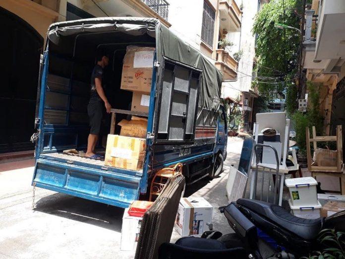 Xe tải sử dụng cho chuyển nhà của đơn vị Đại Đoàn